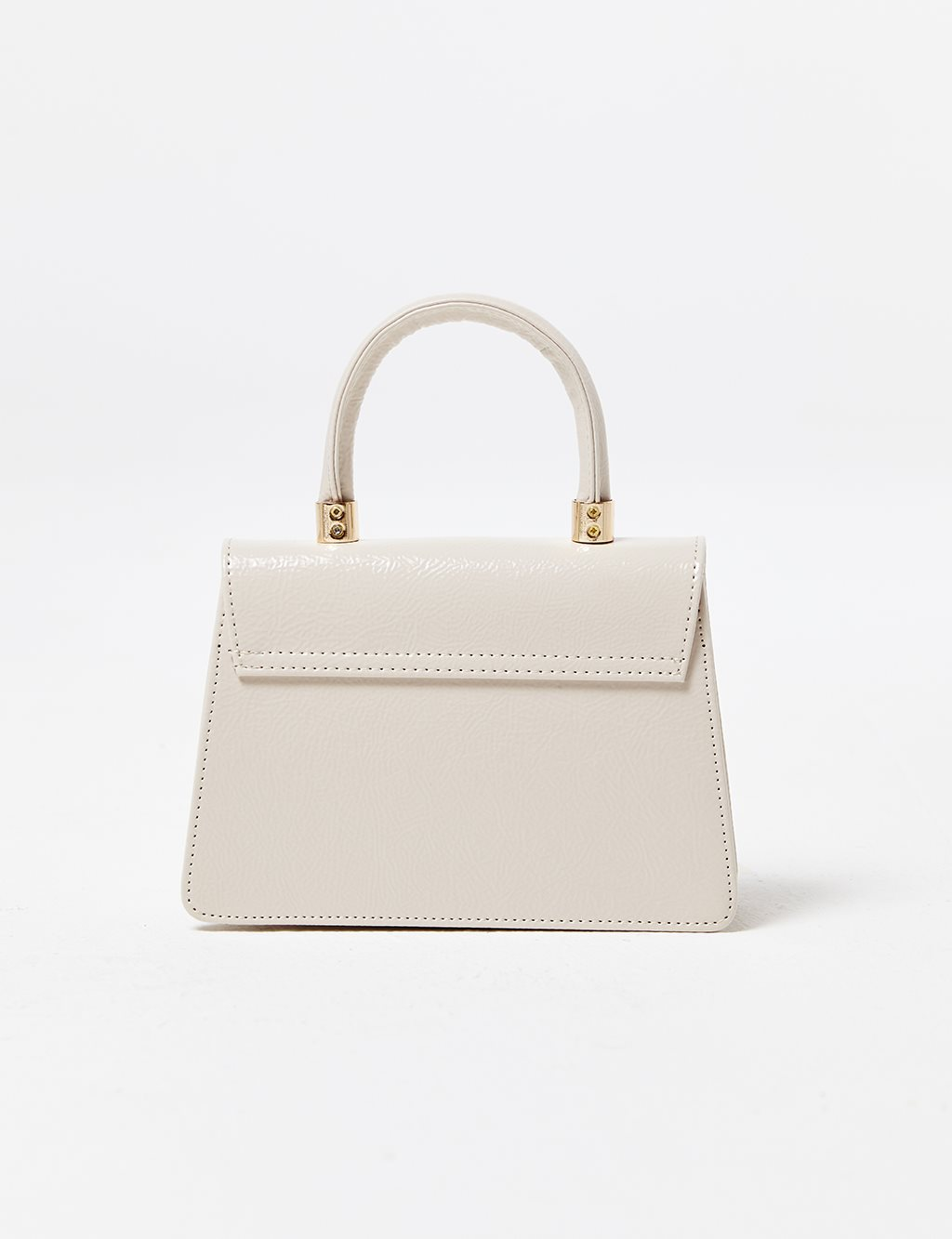 Patent Leather Bag B21 CNT06 Cream