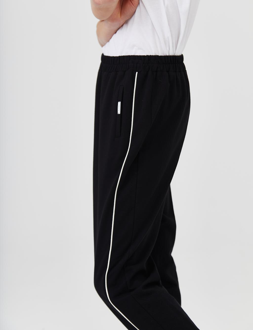 Striped Sweatpants B21 19020 Black