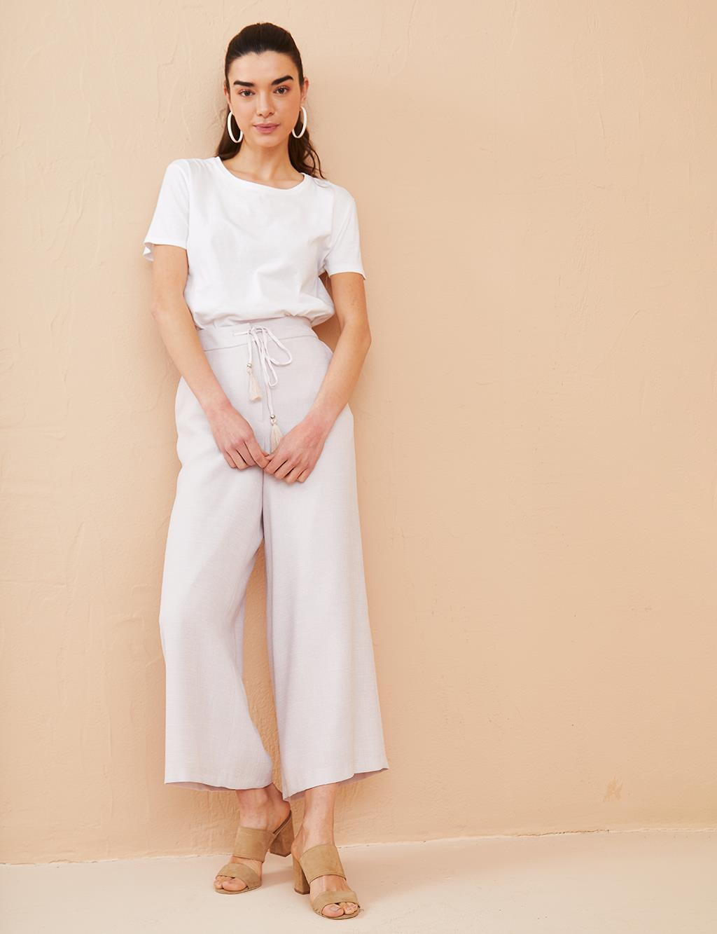 KYR Laced Wide Leg Pants B21 79013 Powder