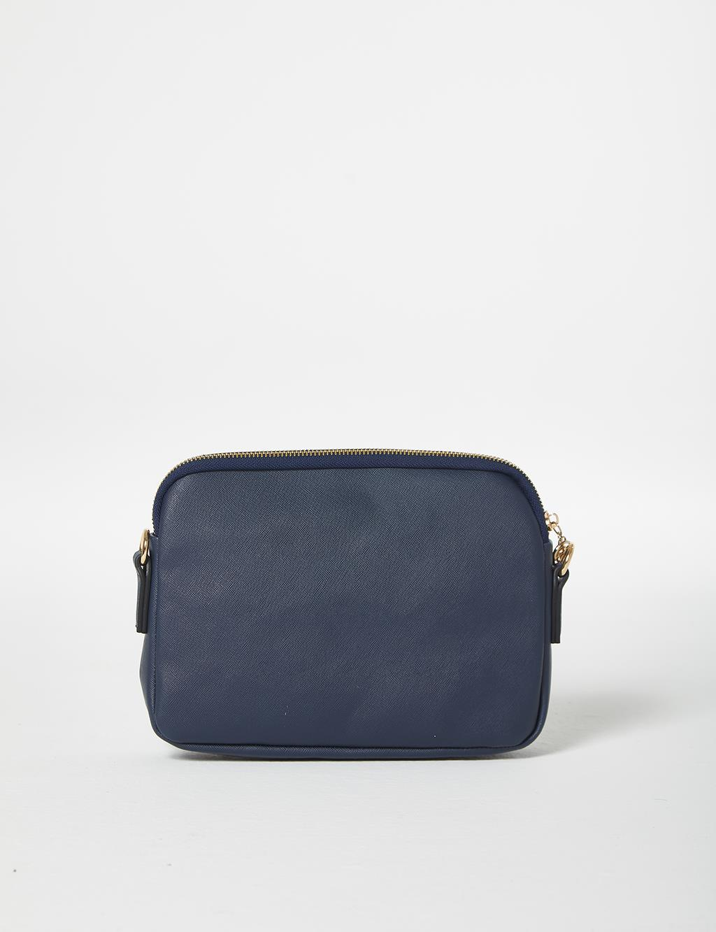 One-Eyed Elegant Shoulder Bag B21 CNT20 Navy