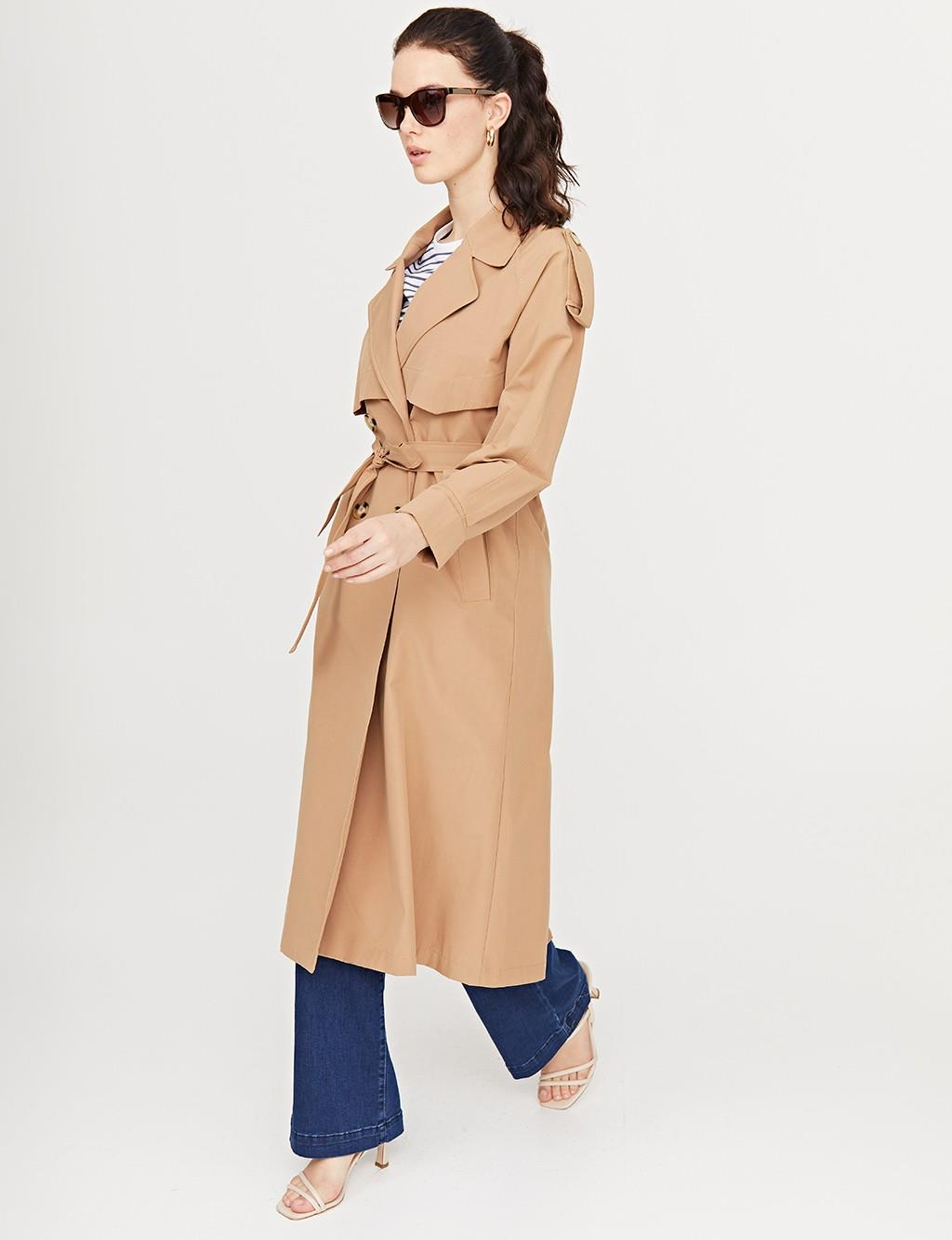 Double Breasted Trenchcoat Beige B21 14008A